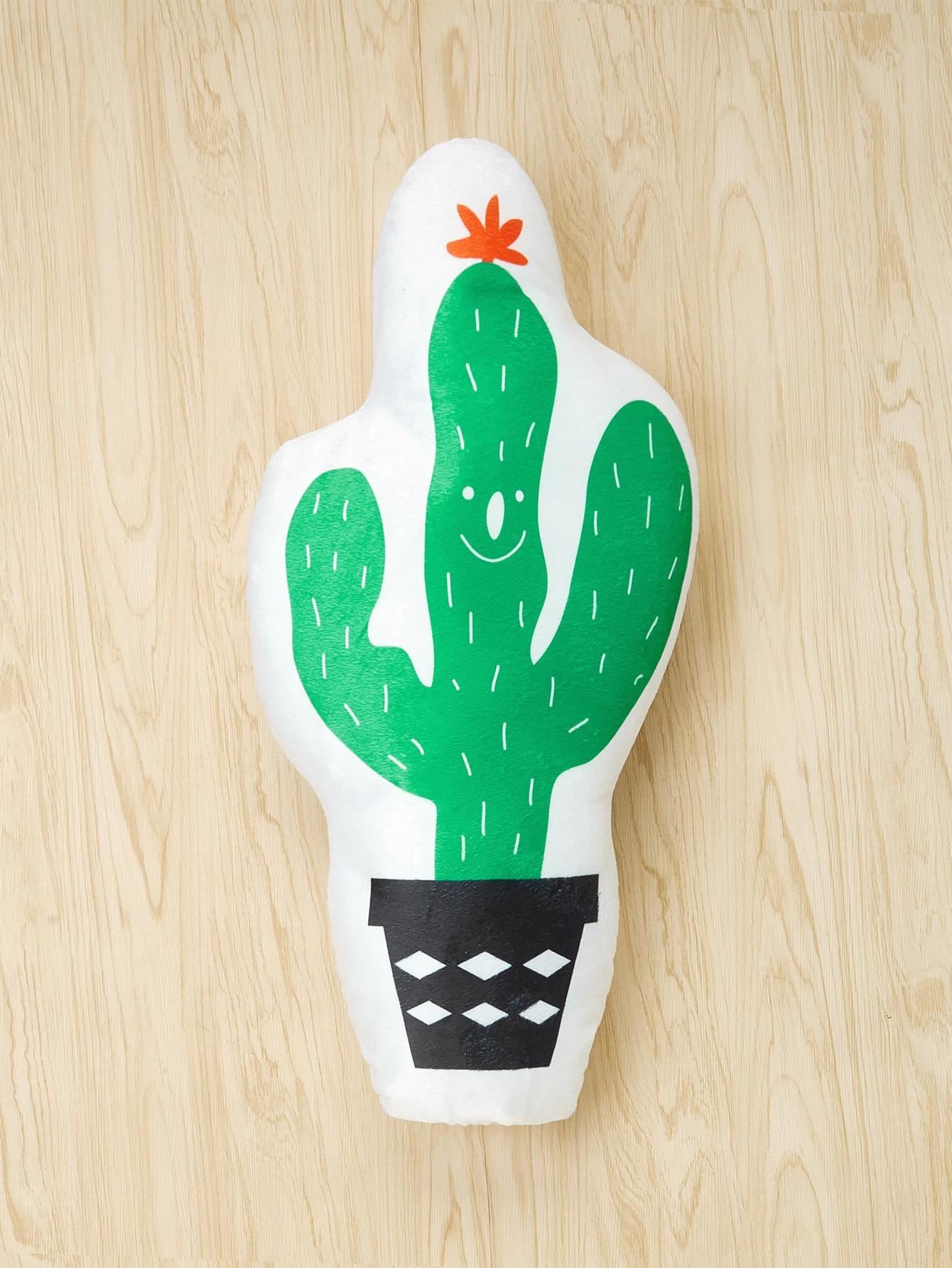 Cactus Print Decorative Pillow