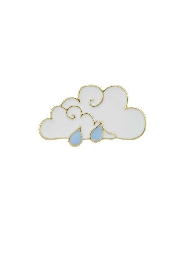 Enamel Clouds Pattern Brooch clouds without rain