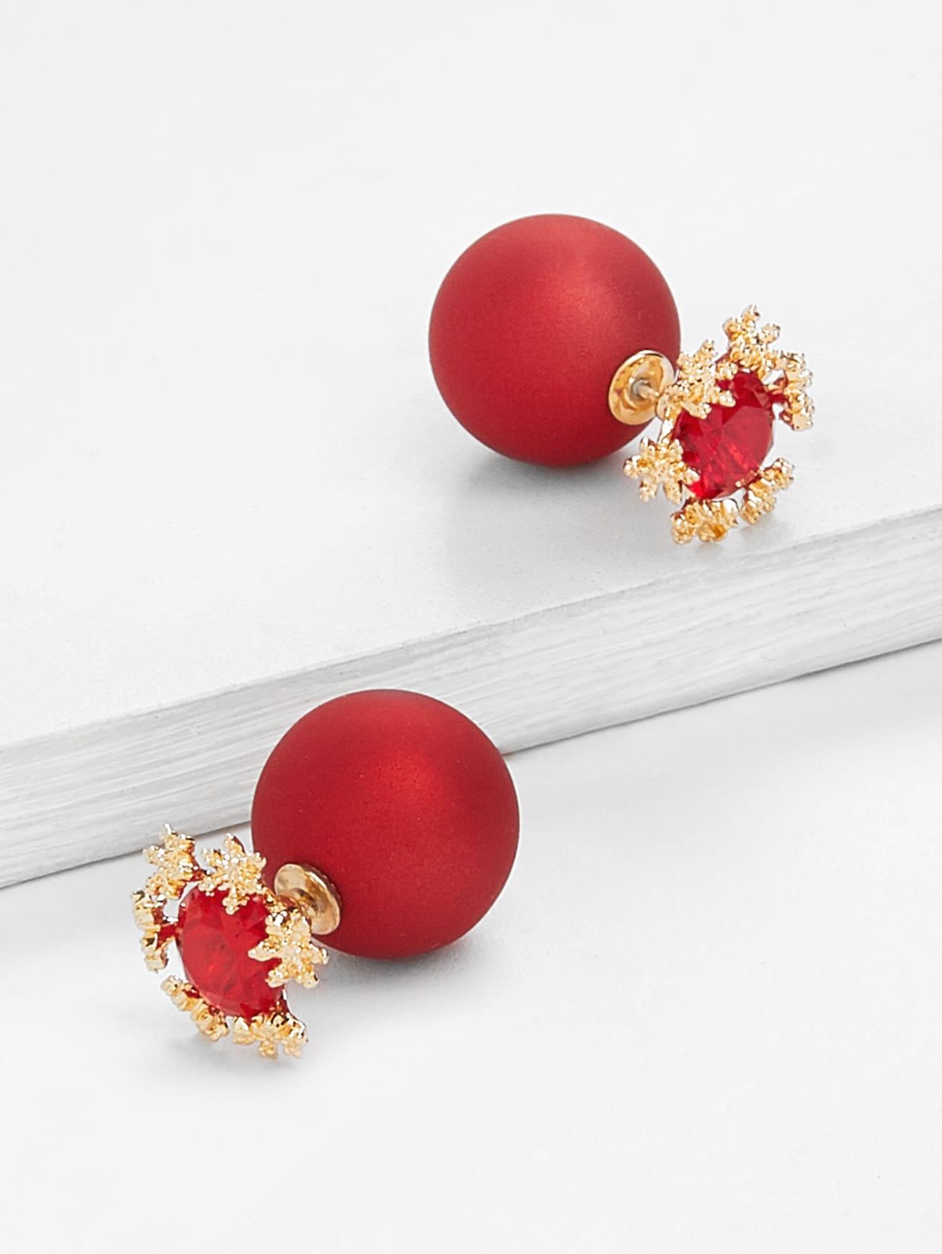 Faux Pearl Stud Earrings faux pearl double stud earrings
