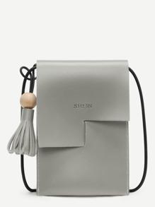 Tassel Decorated PU Pouch Bag