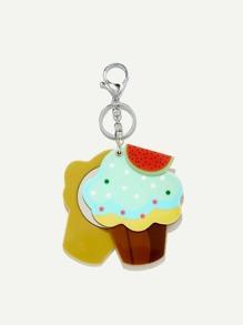 Cake Shaped Keychain