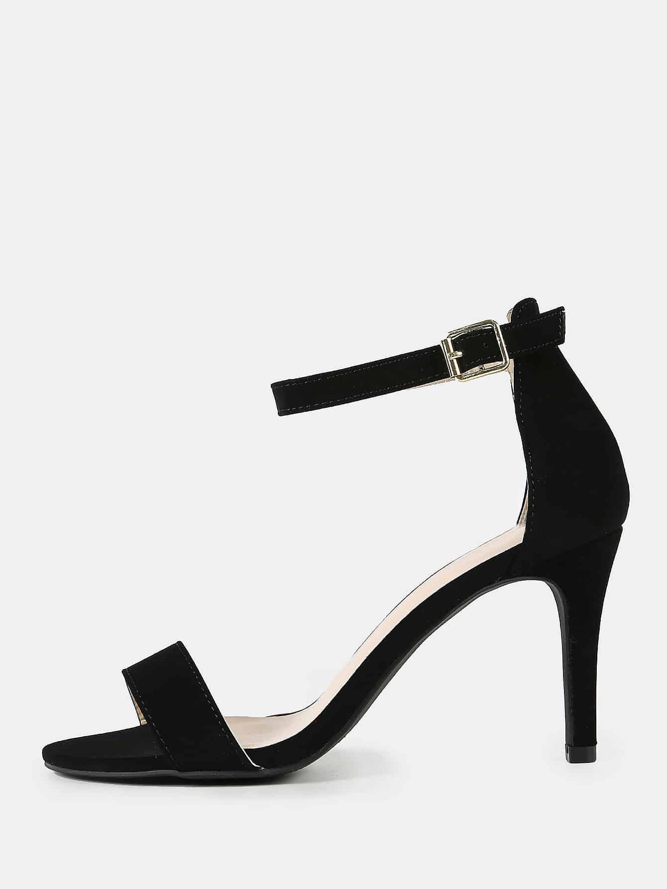 Купить Одиночная лента с открытым носком Stiletto Heel BLACK, null, SheIn