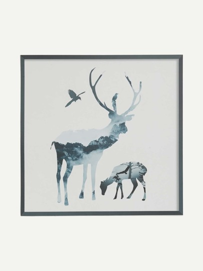 Ink Painting Elk Wall Decors