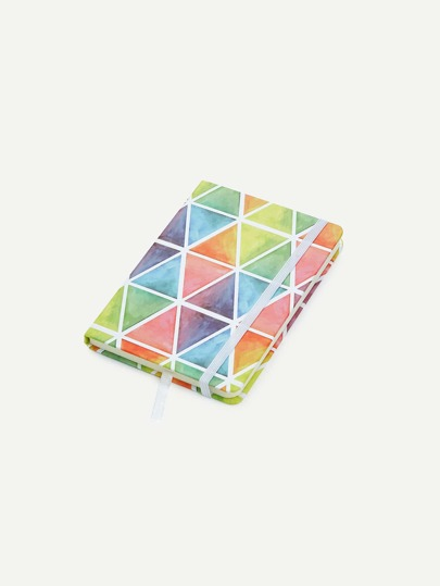 Watercolor Triangle Notebook