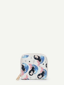 Mermaid Print PU Wallet