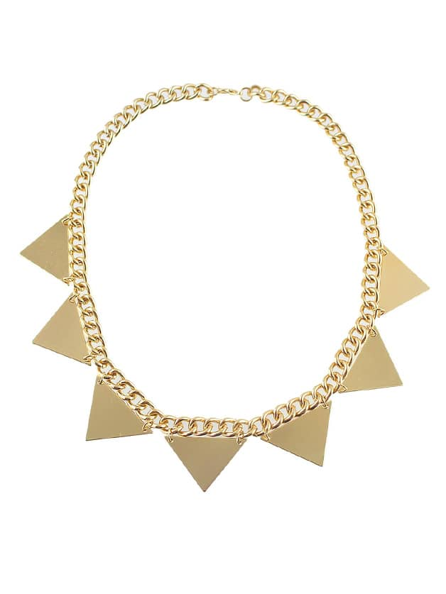 Triangle Steampunk Style  Necklaces
