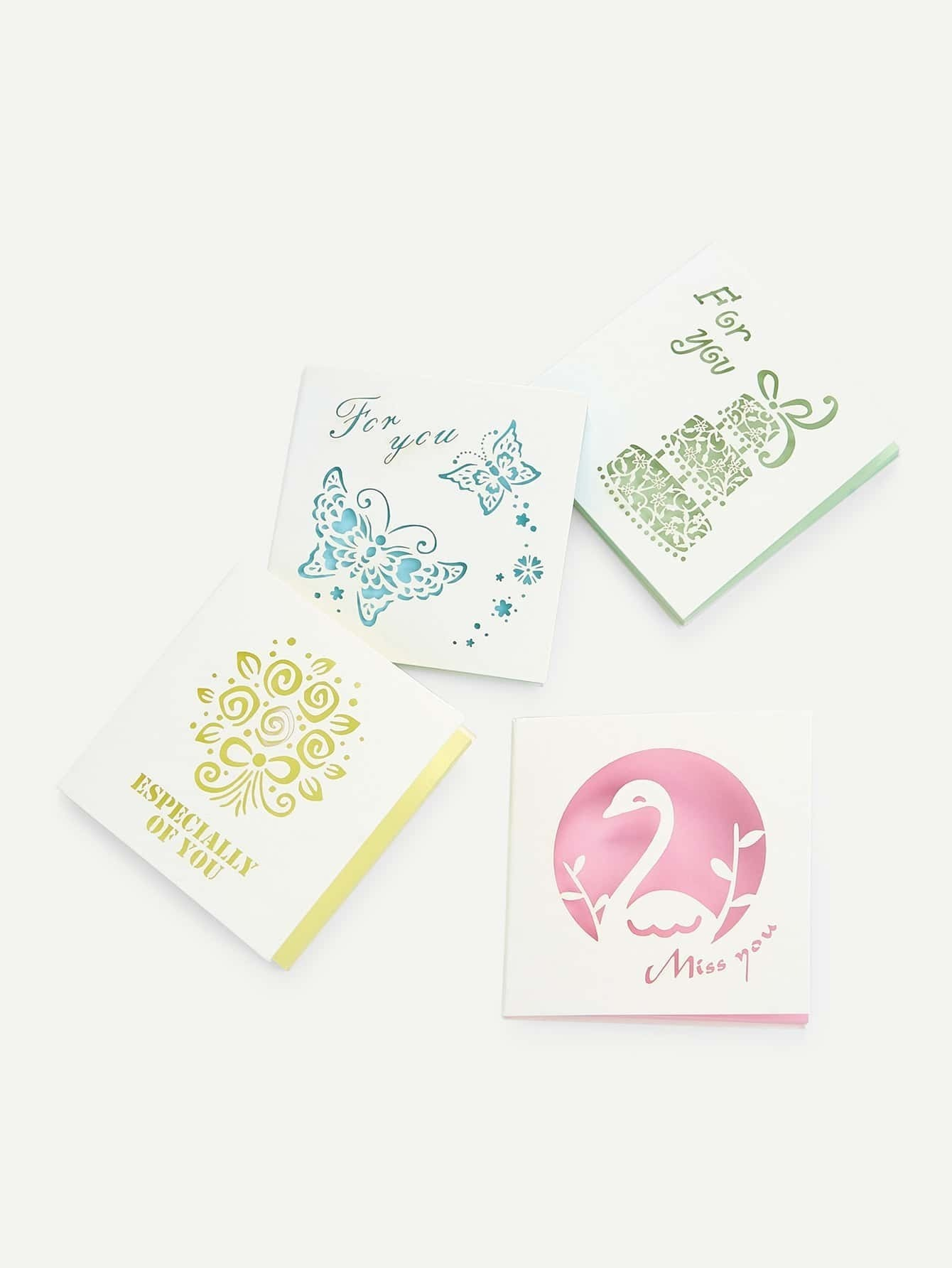 Hollow Out Cover Memo Pad Set