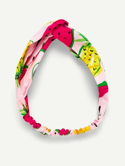 Watermelon Print Twist Turban Headband