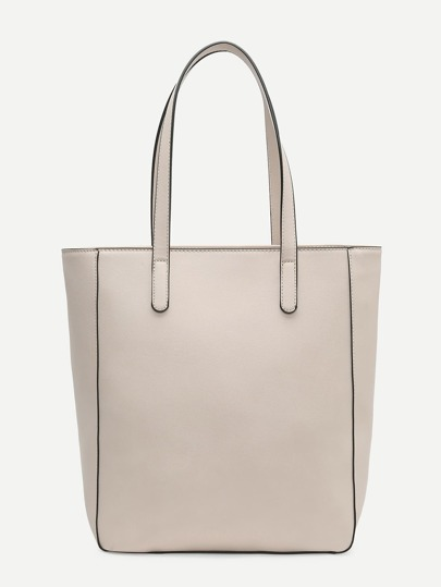 Double Handle PU Tote Bag