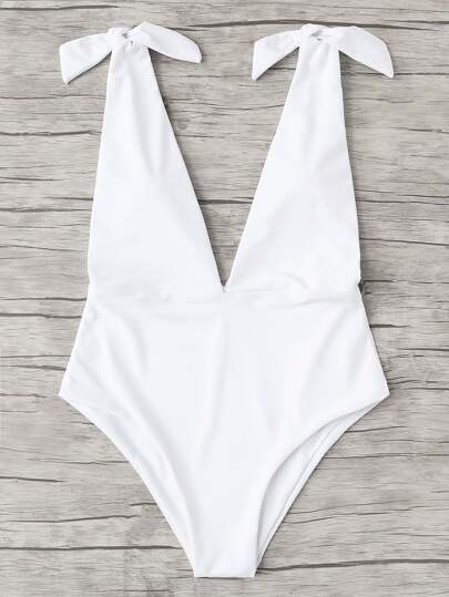 V Plunge Knot Swimsuit
