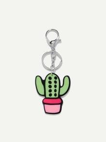 Cactus Shaped Keychain
