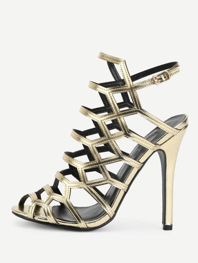 Caged Design Stiletto Heels