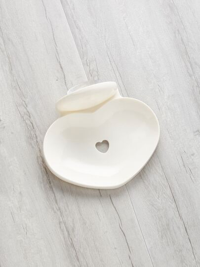 Heart Shaped Wall Attachable Soap Holder