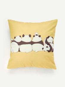 Panda Print Cushion Cover