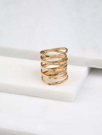Intertwined Ring with Gem Detail GOLD
