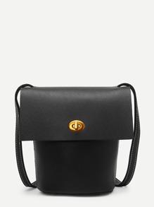 Twist Lock Flap Crossbody Bags