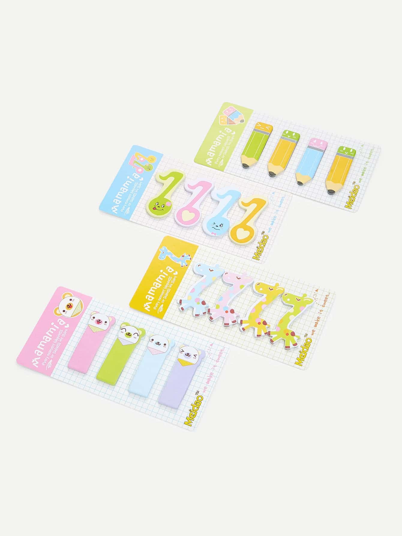 Cartoon Sticky Note Set never rose gold sticky notes and memo pads set cute post note paper notepads set fashion office accessories stationery store