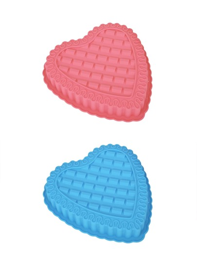 1Pc Random Color Heart Pattern Shaped Baking Mould