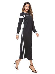 Contrast Striped Tape Dress