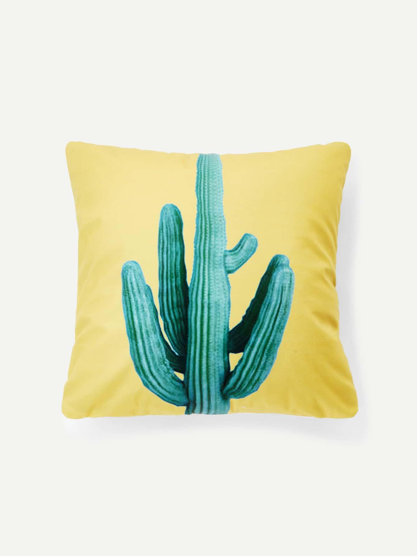 Cactus Pattern Cushion Cover все цены