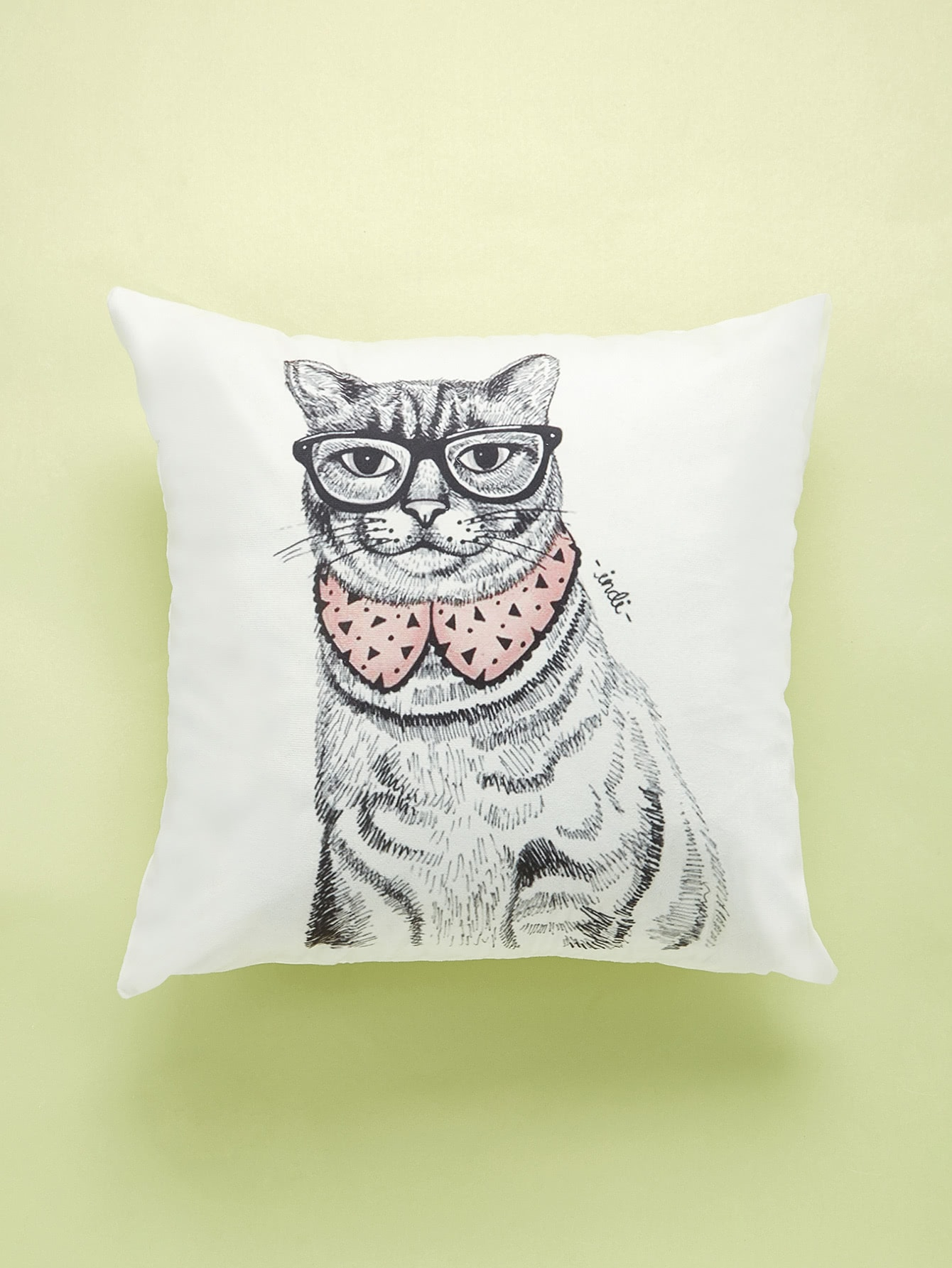 Cat With Glasses Print Cushion Cover cat eye glasses tinize 2015 tr90 5832