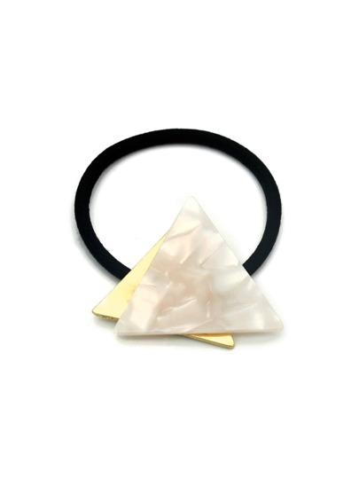 Triangle Contrast Metal Hair Tie