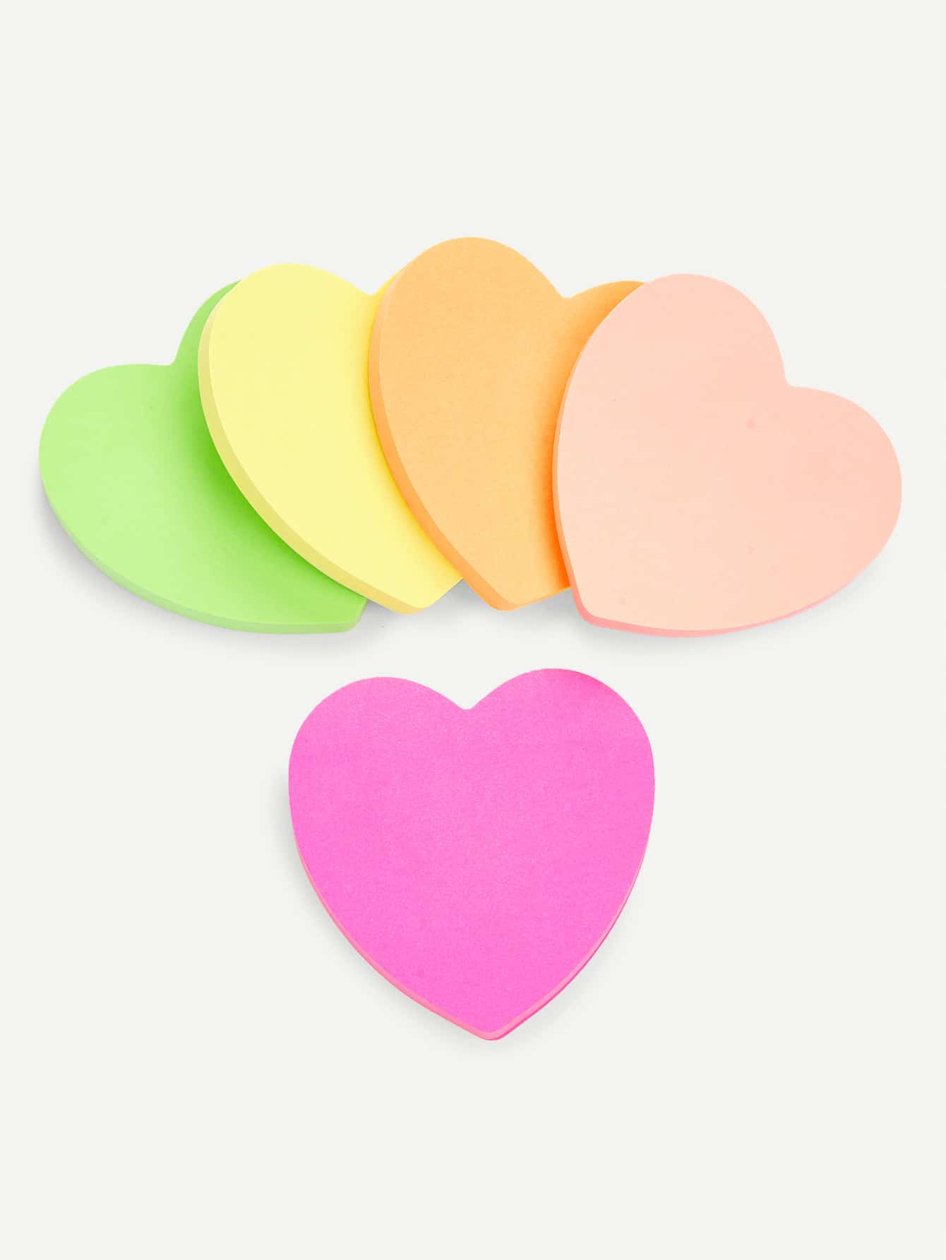 Mixed Color Heart Sticky Notes 1pc lot cute rabbit design memo pad office accessories memos sticky notes school stationery post it supplies tt 2766