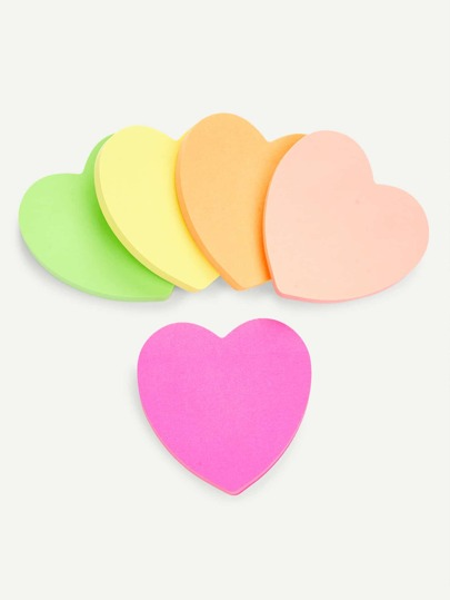 Mixed Color Heart Sticky Notes