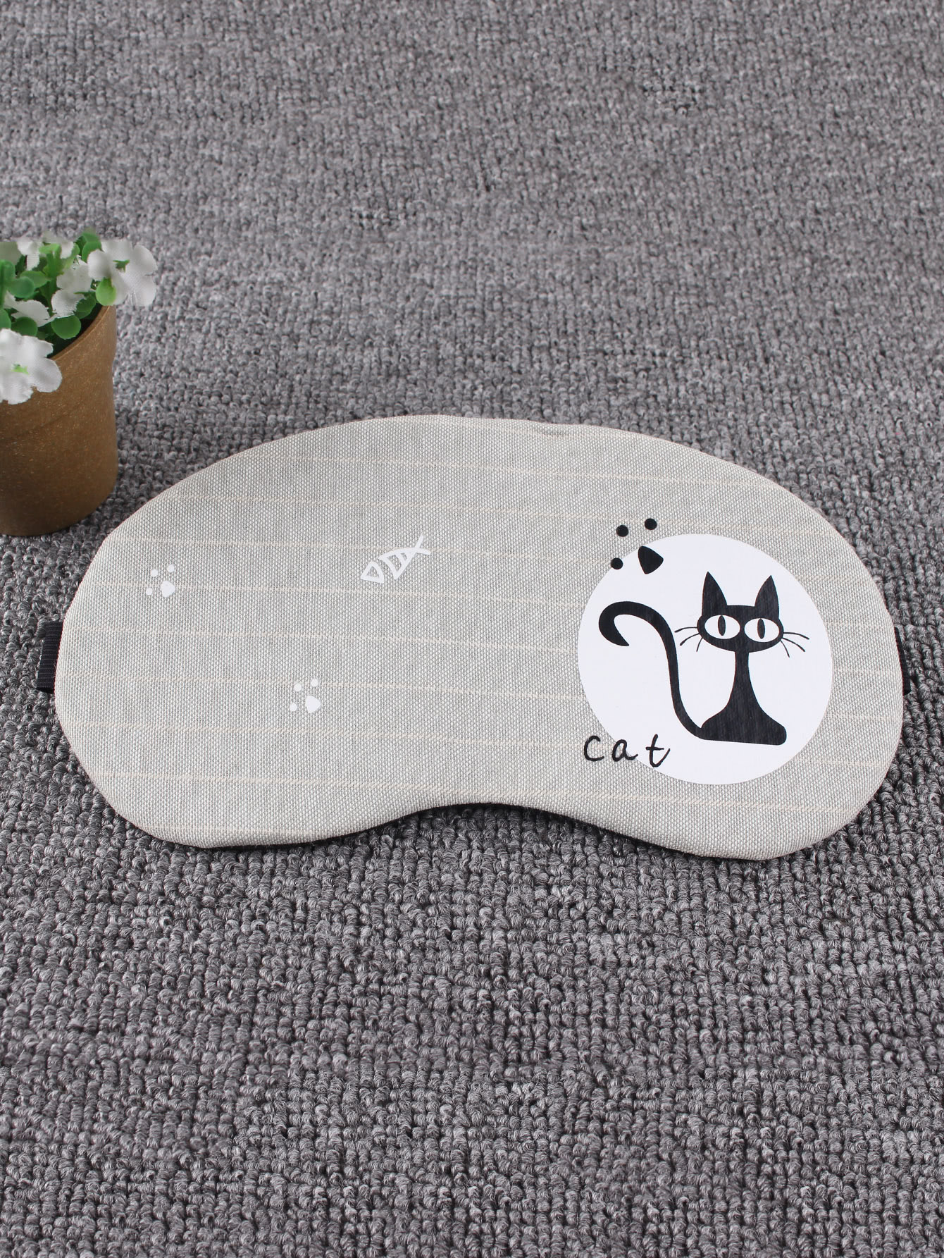 Fish & Cat Print Sleeping Eye Mask cat eye glasses tinize 2015 tr90 5832