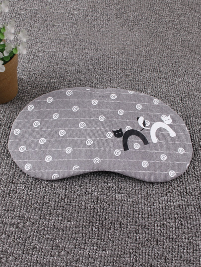 Donuts & Cat Print Sleeping Eye Mask