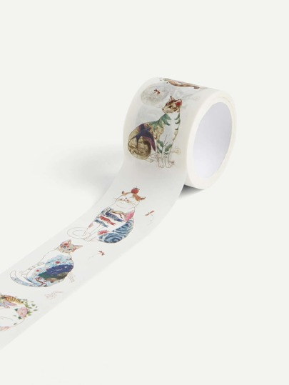 Flower Print Wide Tape