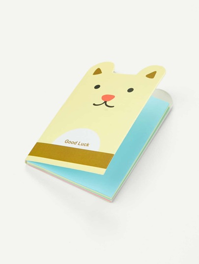 Cartoon Bear Shaped Memo Pad
