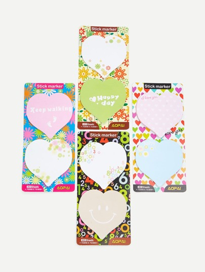 Heart Memo Pad Set