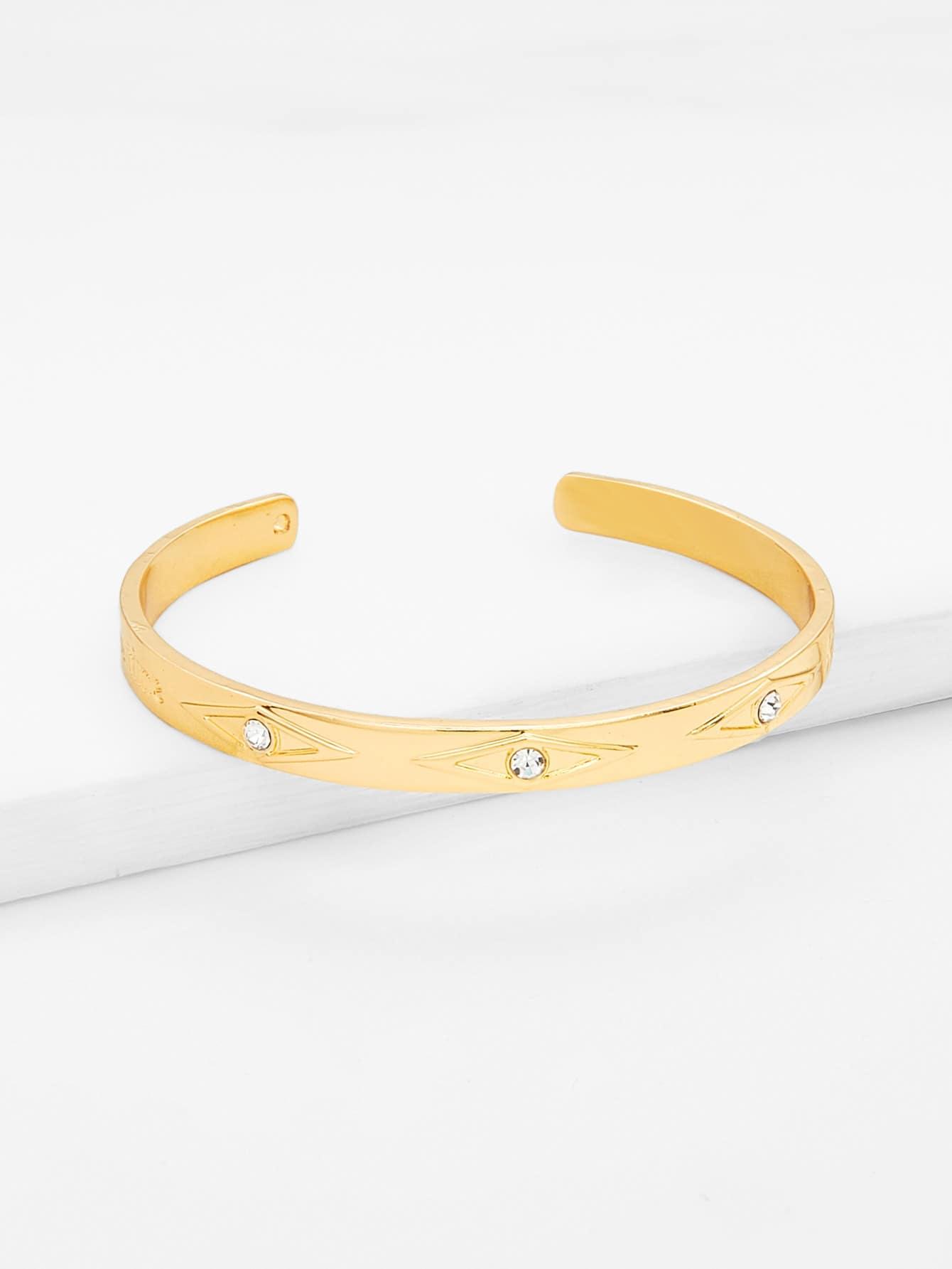 Rhinestone Detail Cuff Bracelet