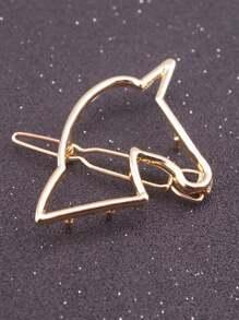 Open Unicorn Hair Clip