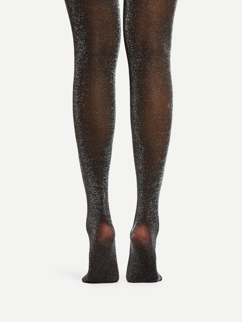 Glitter Pantyhose Stockings, Black