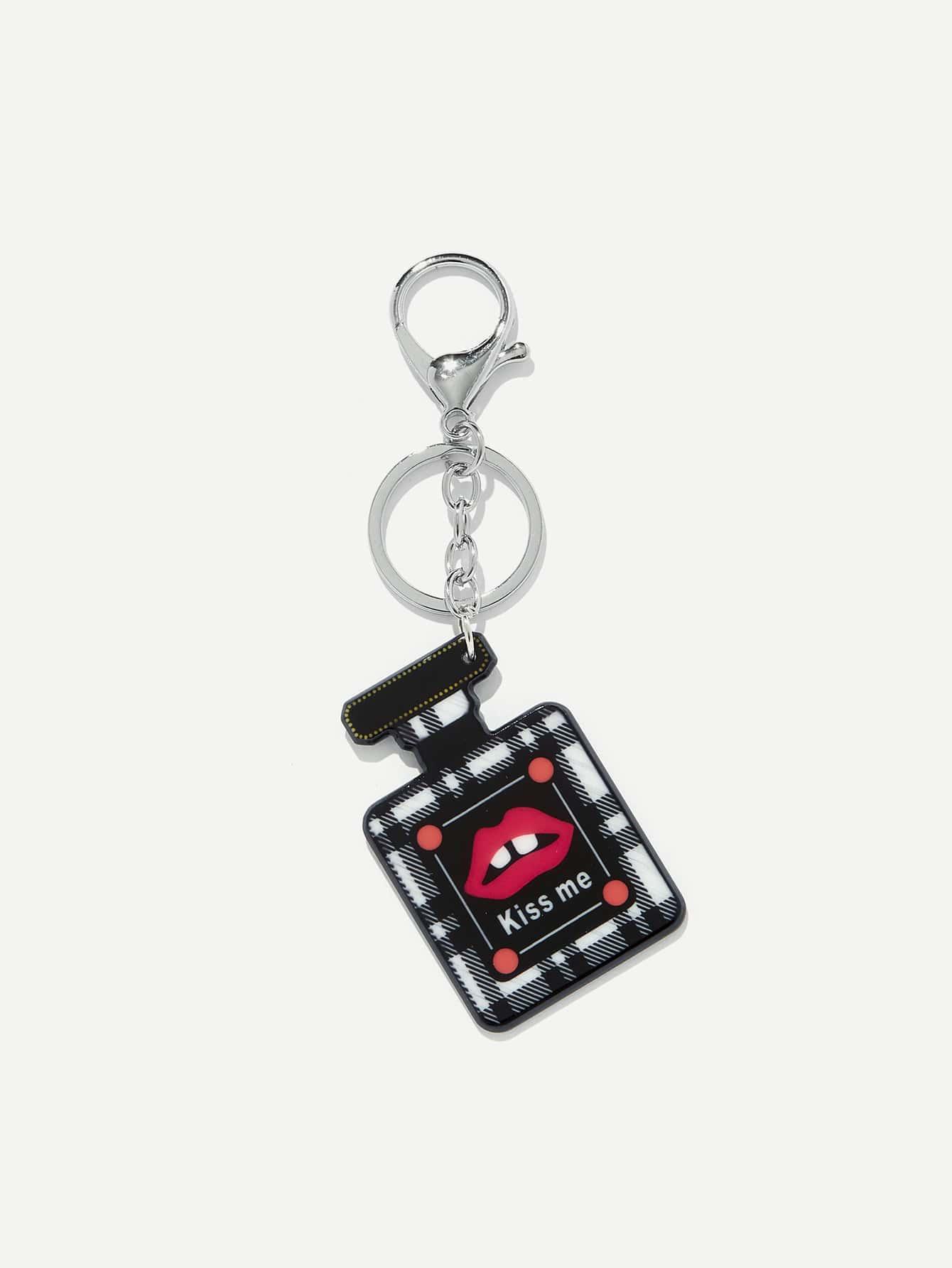 Perfume Shaped Keychain