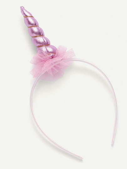 Mesh Detail Iridescent Unicorn Headband