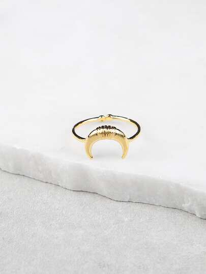 Moon Design Ring GOLD