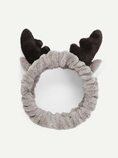 Reindeer Ear & Antlers Cosmetic Headband