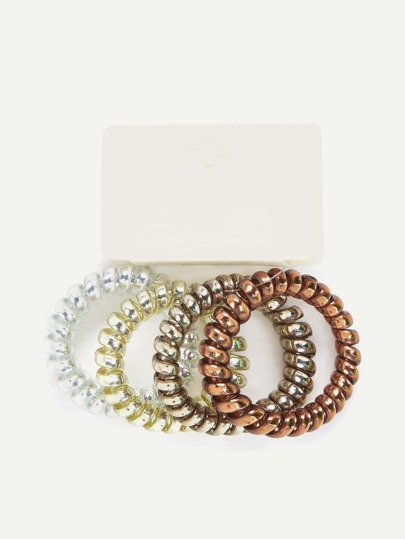Coil Hair Ties 4pcs