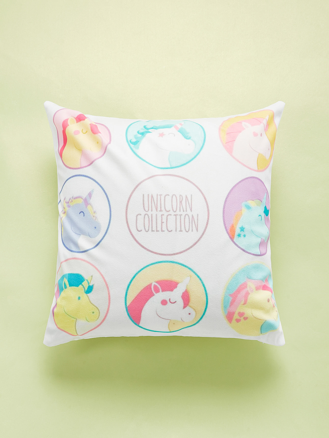 Unicorn Overlay Print Cushion Cover