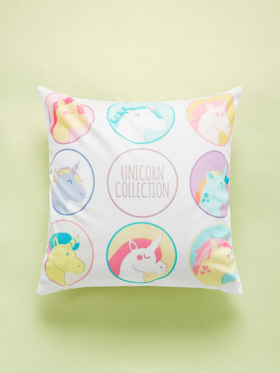 Unicorn Overlay Print Cushion Cover