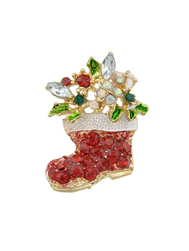 Christmas Boot Brooch the christmas boot