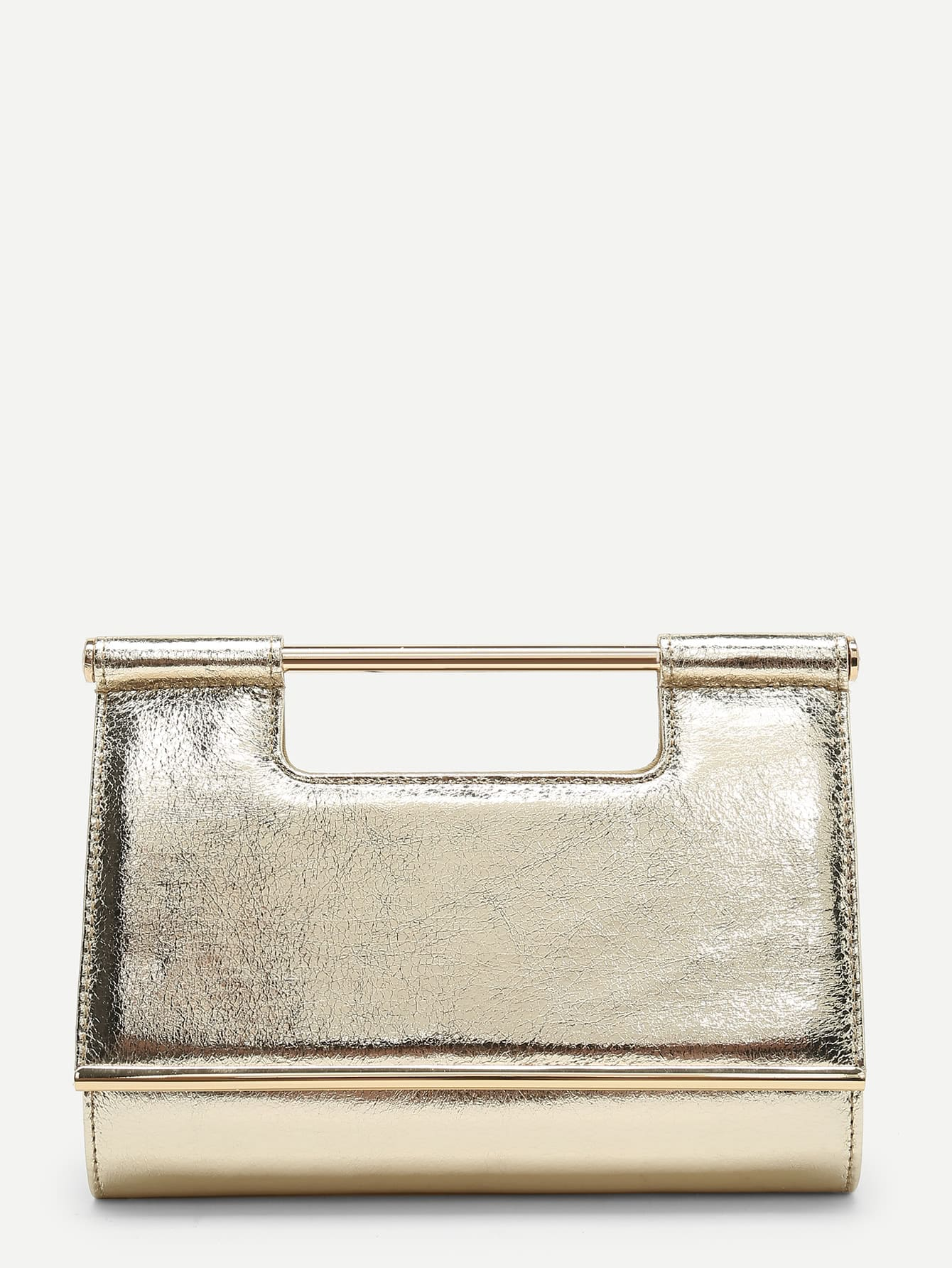 Фото - PU Clutch Bag With Chain Handle evening clutch bag wood rectangle chain wallet travel shoulder