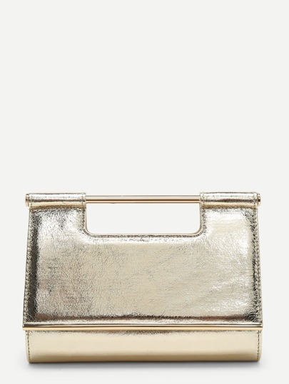PU Clutch Bag With Chain Handle