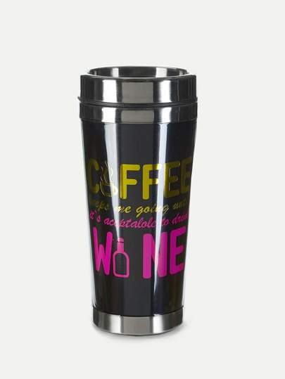 Slogan Tumbler With Lid