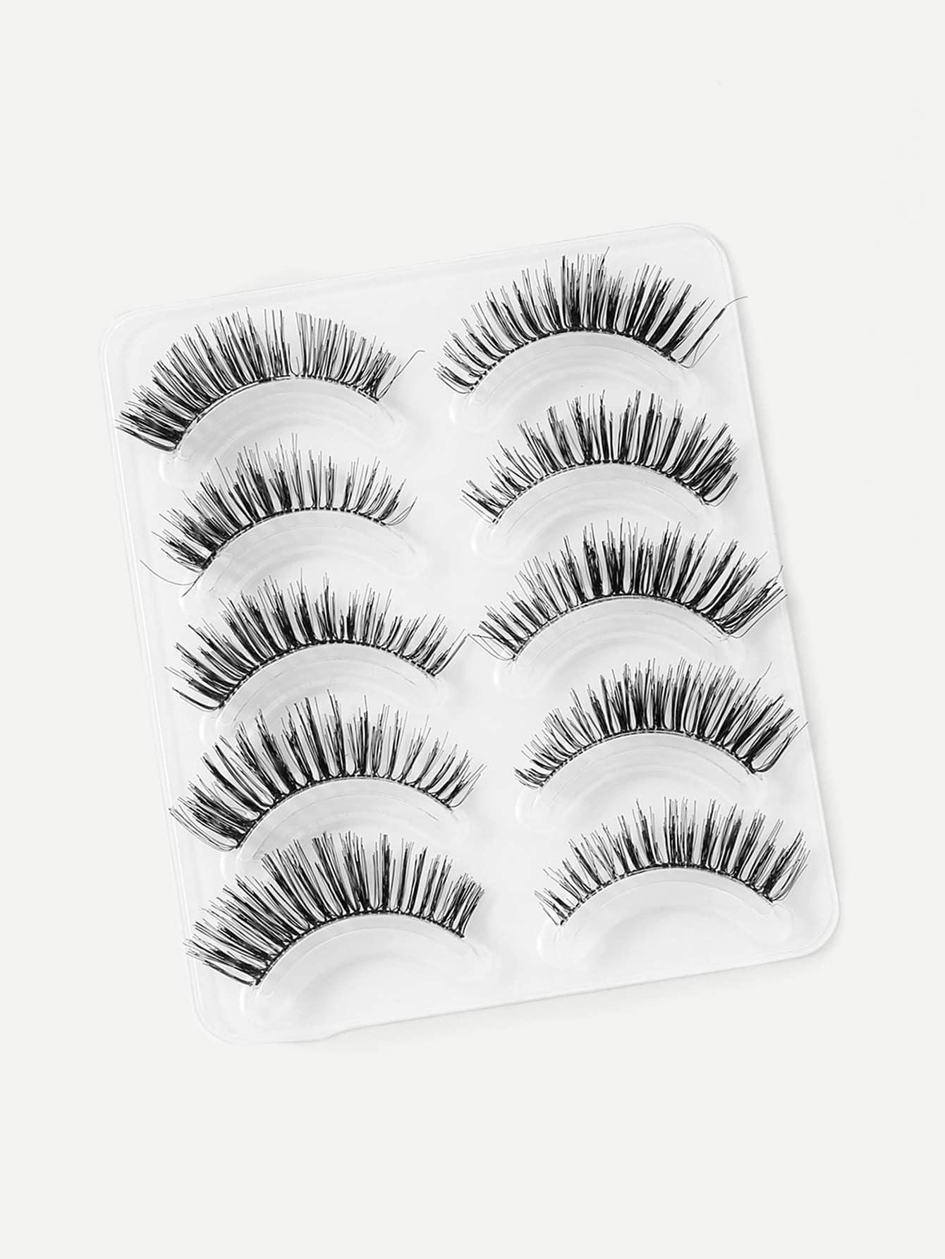 Natural False Eyelashes 5pairs женские чулки 1 5pairs