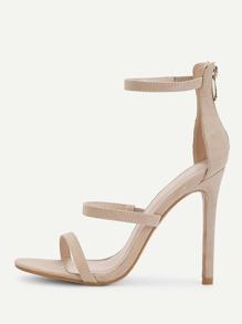 Stiletto Ankle Strap Sandals