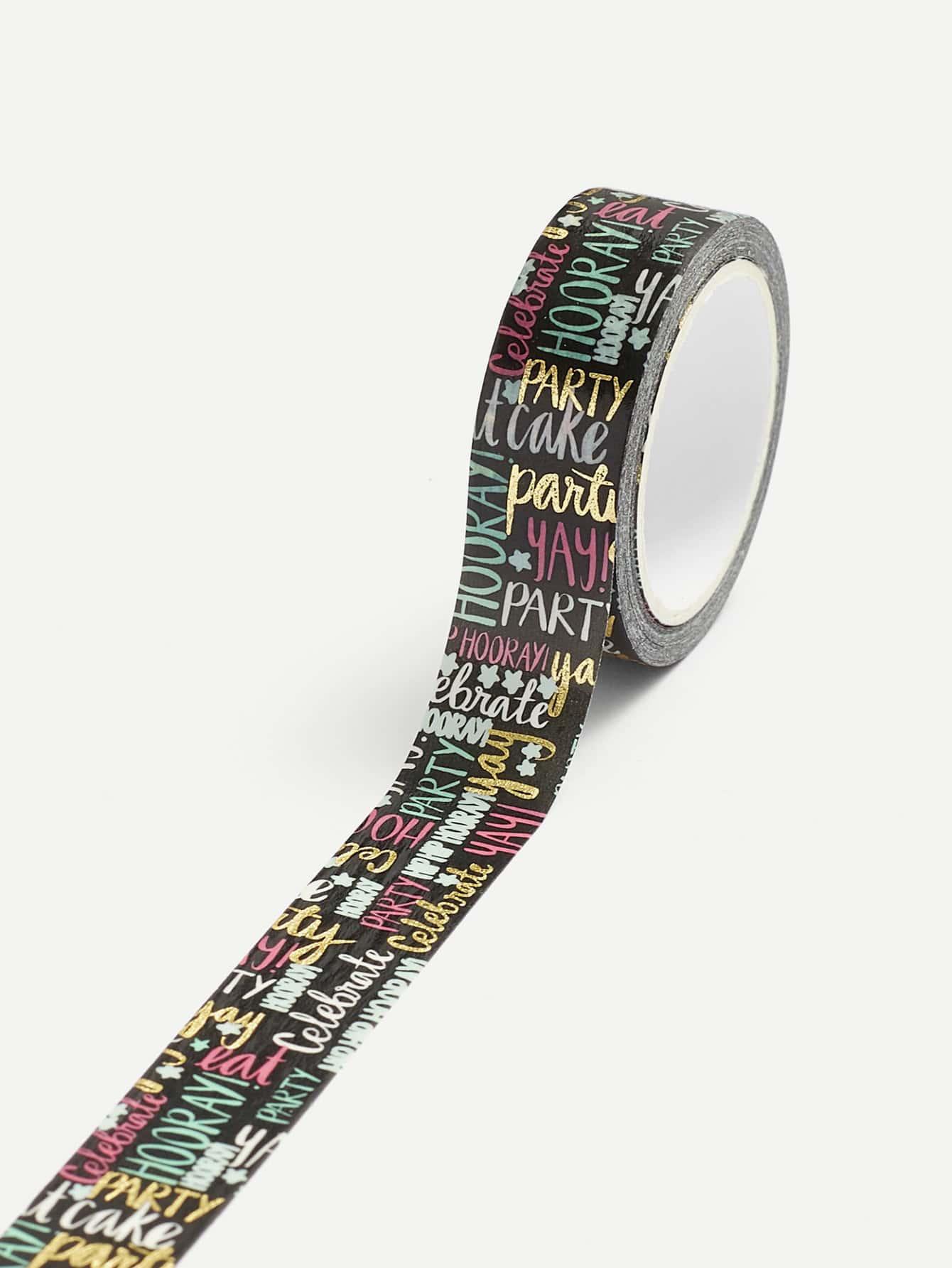 Letter Print Masking Tape